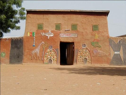 Maison d'un chef de village de la region de l'Ouest au cameroun.