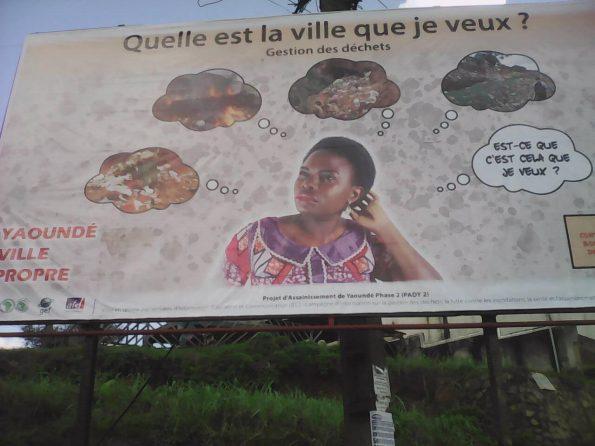"""Mon image sur une affiche grand format """"Yaoundé ville propre"""" PADY II"""