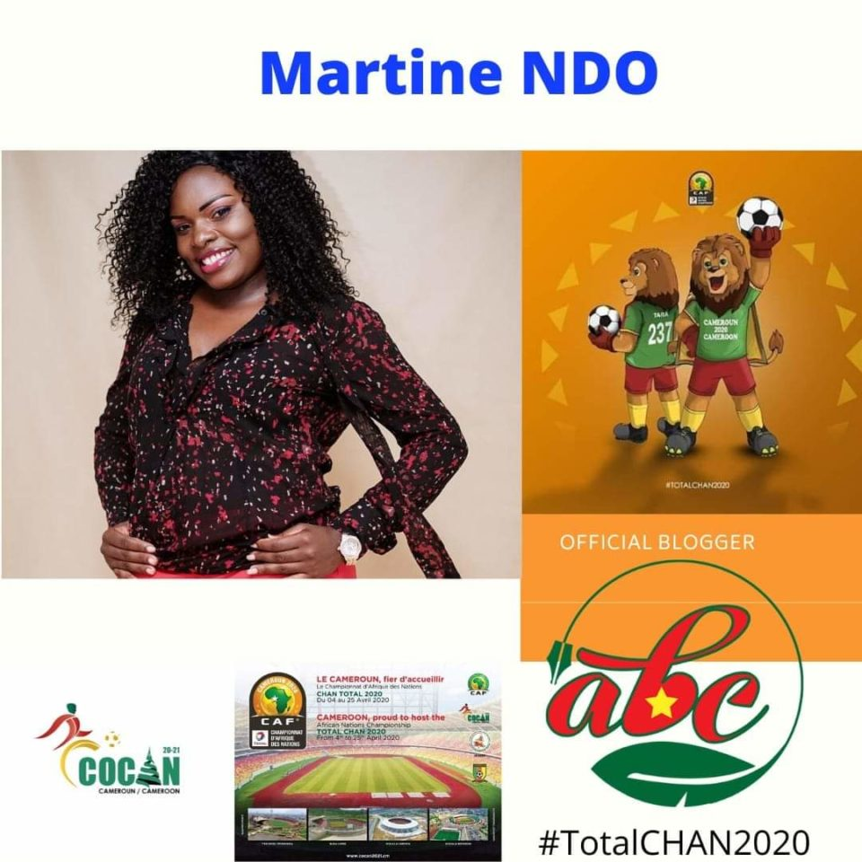 Martine Ndo, blogueuse officielle du CHAN 2020